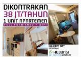 Disewakan Murah Apartemen Kalibata City Posisi Hook Full Furnished