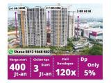 Special Promo - Dijual Apartemen Sky House BSD+ Tangerang - Type 3BR & 3BR+1 Cicil Developer 120x (Flat 10 Tahun) Cicilan Start 13 Jutaan